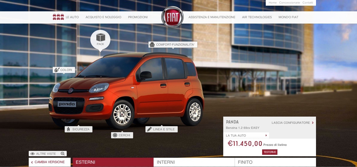 Configuratore Fiat Panda